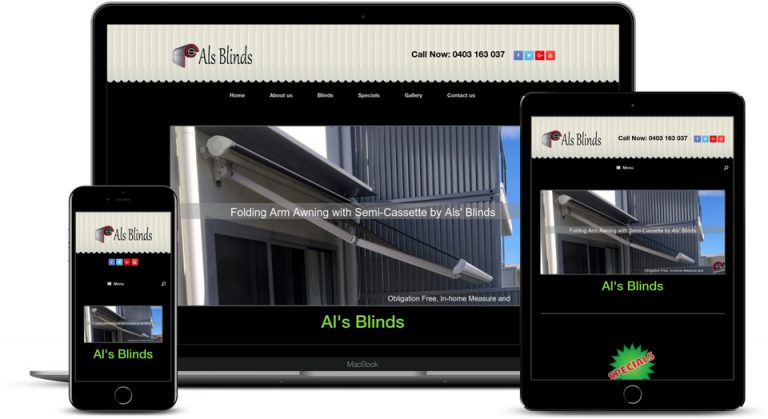 Arrested Als Blinds created by Arrested Graphics and Web Solutions